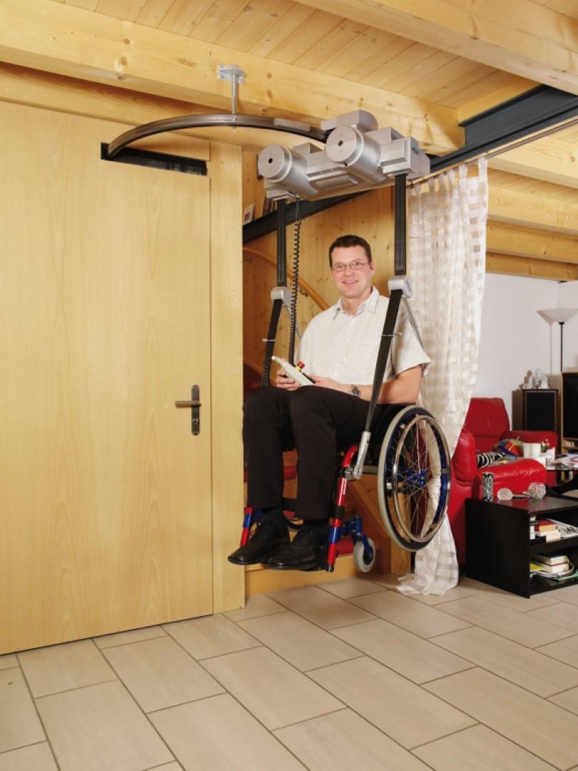 Libertas el elevador de techo para silla de ruedas art culos de ortopedia - Sillas de ruedas estrechas ...