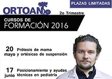 ORTOAN Formación Continuada Ortoprtésica 2º trimestre 2016