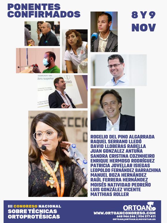 Ponentes Confirmados - III Congreso Nacional de ORTOAN sobre Técnicas Ortoprotésicas